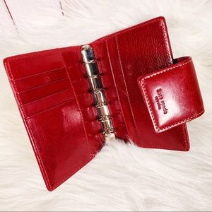 Kate Spade Red Leather Wallet/ Planner